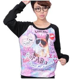 Angry Cat Sweatshirt / Sudadera Gato Wh201