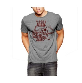 Skull T Shirt King Of Death Wearing A Crown And Smoking A Cigar Cotton Tee