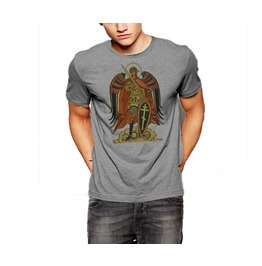 Guardian Angel T Shirt Vintage Religious Art Cotton Tee