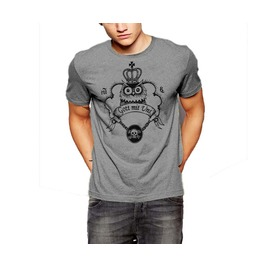Owl T Shirt Crown Skull And Chain Tattoo Cotton Tee