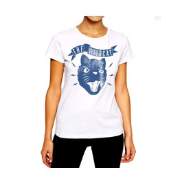 Angry Cat Women T Shirt Halloween Angry Feline Mean Kitty Cotton Tee