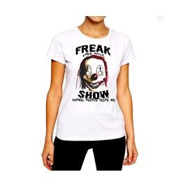 Creepy Clown T Shirt Sadistic Horror Mask Freak Show Woman Cotton Tee