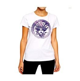 Medusa T Shirt Snakehead Woman Serpent Viper Cotton Tee