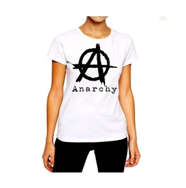 Anarchy T Shirt Custom Designed Logo Women Cotton Tee By Rancid Nation