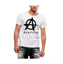 Mens Anarchy T Shirt Custom Logo Soft Cotton Tee By Rancid Nation