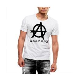 Mens Anarchy T Shirt Custom Logo Soft Cotton Tee By Rancid Nation