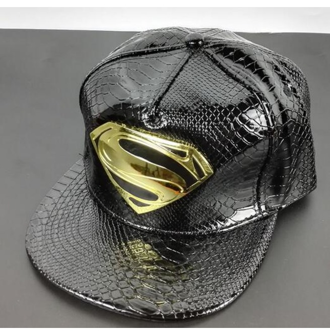 rebelsmarket_crocodile_pattern_superman_logo_cap_a23_hats_and_caps_2.jpg