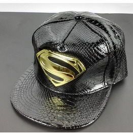 Crocodile Pattern Superman Logo Cap A23