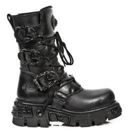 New Rock Shoes All Black Boots With Reactor Soles
