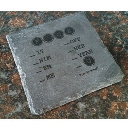 Natural Slate Coaster Set