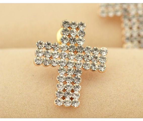 Punk Tiny Cross Bling Crystal Stud Earrings_Earrings_2.jpg