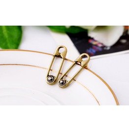 Paper Clip Shape Vintage Punk Stud Earrings