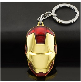 Iron Man Mask Keyrings Keychain Key Holder Avengers Marvel Super Hero