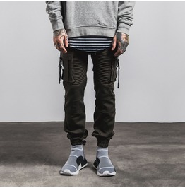 Men's Side Pocket Pintucked Knitted Joggers
