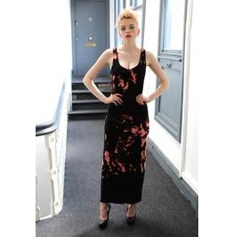 Pretty Disturbia Black Acid Wash Maxi Dress