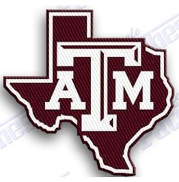 Texas A & M Auggies Iron On Embroidered Patch College University Of