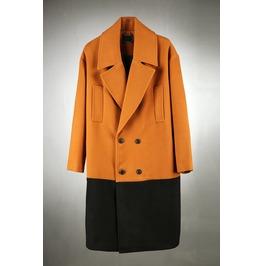 Layered Long Button Coat