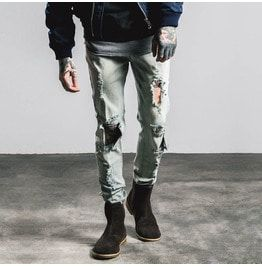 Men's Distressed Slim Fitted Jeans