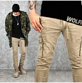 Drawcord Slim Cotton Cargo Pants 122