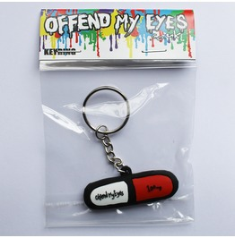 Pill / Tablet / Drugs Keyring Keychain By Offend My Eyes
