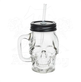 Glass Skull Drinking Jar By Alchemy