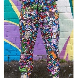 Trippy Joggers Offend My Eyes Bottoms Pill Weed Drugs Xs, S, M, L, Xl, 2 Xl