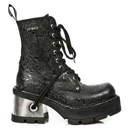 New Rock Shoes Women's Vintage Designed Lace Up Boots