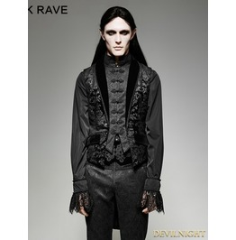 Gothic Fake Two Pieces Swallow Tail Vest For Men Y 696