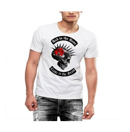Spiked Skull T Shirt Anarchy Punk Rock By Rancid Nation Cotton Tee