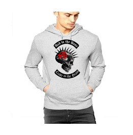 Anarchy Spikes Skull Hoodie Custom Logo Pullover By Rancid Nation
