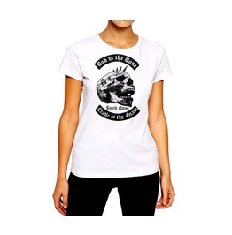 Anarchy Cradle To The Grave Punk Rock Women Cotton Tee By Rancid Nation