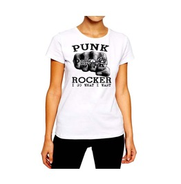 Anarchy Fist Of Rings Punk Rock Women Cotton Tee By Rancid Nation