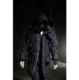 Big Hooded Neoprene Coat