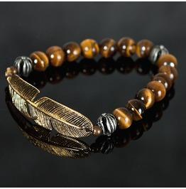 Metal Golden Feather Rosary, Bracelet 65