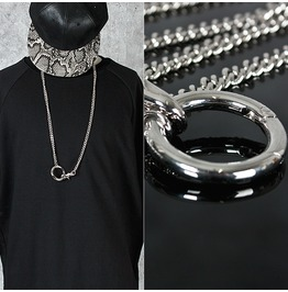 Metal Ring Charm Chain Necklace 50