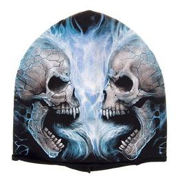 Spiral Beanie Hat Ski Hat Skull Fire