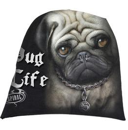 Spiral Beanie Hat Ski Hat Pug Life