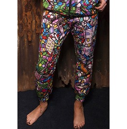Trippy Drug Weed Pill Shrooms Tracksuit Bottoms Joggers Size Xs S M L Xl