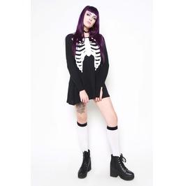 Iron Fist Clothing Black Wishbone Trapeze Dress