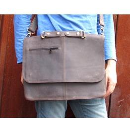 One Leaf Laptop Messenger Bag Leather Mac Book Bag Mbx Dark Brown