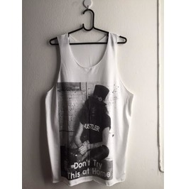 Slash Don't Try This At Home Goth Fashion Vest Tank Top