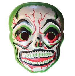 Green Slime Skull Vac Tastic Plastic Mask