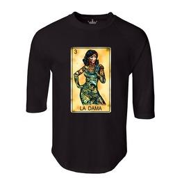 "Men's ""La Dama"" 100% Cotton Jersey Raglan"
