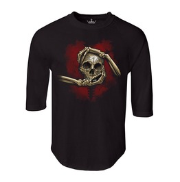 "Men's ""Heart, Hand, & Skull"" 100% Cotton Jersey Raglan"