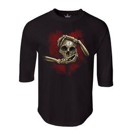 """Men's """"Heart, Hand, & Skull"""" 100% Cotton Jersey Raglan"""