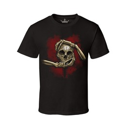 Men's Heart, Hand & Skull 100% Cotton Tee
