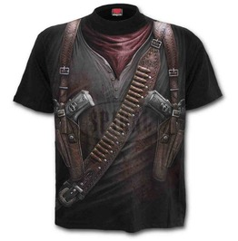 Holster Wrap Graphic Outlaw Apocalypse Gothic Rock T Shirt