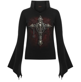 Witch Vampire Style Gothic Top With Skull And Blood Details