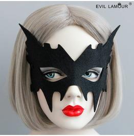 Handmade Black Gothic Vampire Mask Mk 33