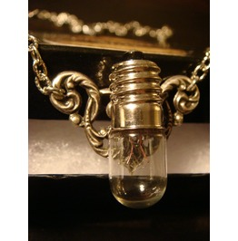 Steampunk Victorian Style Bulb Wings Necklace